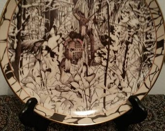 """ON SALE Silent Jpurney """"Where Paths Cross"""" Collector Plate 1994"""