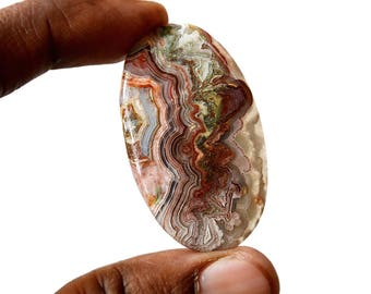 Crazy Lace Agate 57 Cts Natural Gemstone Cabochon Oval Shape Agate 47x28x5 MM R14869