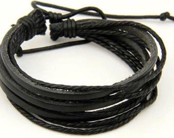 Genuine leather men bracelets