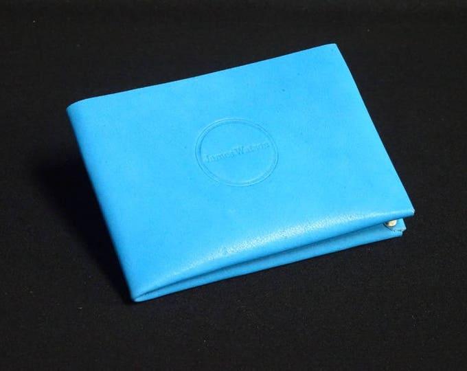6Pocket Wallet - Tiffany Blue - Kangaroo leather with RFID credit card blocking - Handmade - Mens/Womens - James Watson