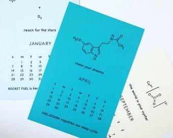 2018 Chemistry Calendar - Inspiration Nerd Calendar Science Calendar Geek Calendar Teacher Graduation New Year Chemist Biochemist Scientist