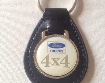 Ford Trucks 4X4 Keychain Leather Ford Truck 4X4 Key Chain