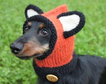 Knitting Pattern Hat With Dog Ears : Hoodie with ears Etsy