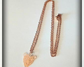 Leopard necklace rose gold