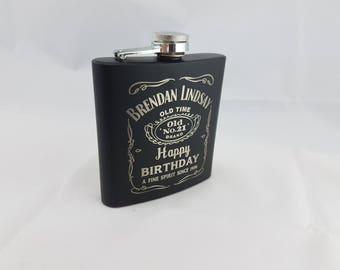 Personalized graphic engraved flask - Flask Only