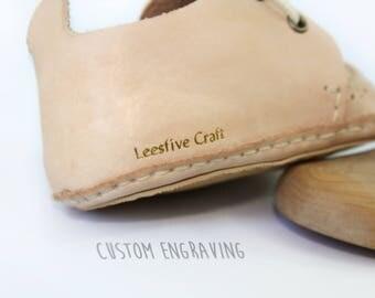 Custom Engraving - Foil Stamping on Leesfive craft shoes
