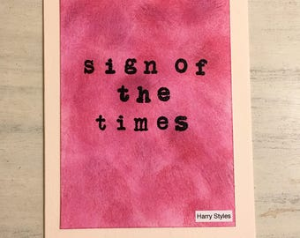 "Harry Styles ""Sign of the Times"" Card"