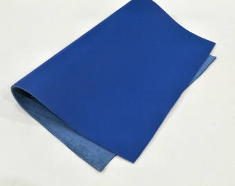 "Leather Scrap, Genuine Leather, Leather Pieces, Blue, Size 8.25"" by 11.5""  Leather Scrap for DIY Projects."