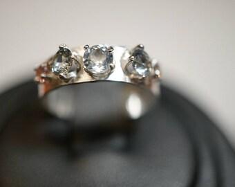 Brilliant Montana Sapphire Wedding Ring