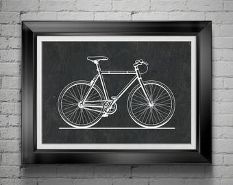 Ten Speed Bicycle Poster Gift 4 Bicyclist Gift for Cross Country Bicycler Gift for Bicycle Racer Gift for Triathlon Biker Art Gift PP 8503