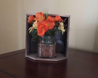 Orange Flower Crate