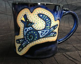 blue dog mug 14oz