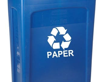 Recycle Decal, Recycle Sticker, Recycle Label,  Recycle Logo, Recycle Paper, Environment