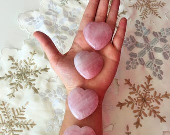 Rose Quartz Heart infused with Love and Reiki / Free Shipping