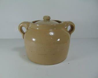 Vintage Medalta Pottery Bean Pot with Lid,  Medalta Potteries Medicine Hat Alberta Canada, circa 1924 - 1954