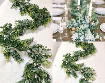 Eucalyptus Garland  Wedding Garland Greenery Garland Woodland Garland Artificial Eucalyptus Garland Eucalyptus Wedding Mixed Greens Garland