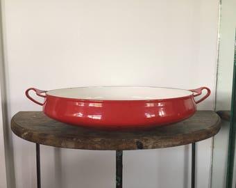 Vintage Dansk Kobenstyle Paella Pan - Red