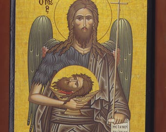St. John the Forerunner. Christian orthodox icon.FREE SHIPPING