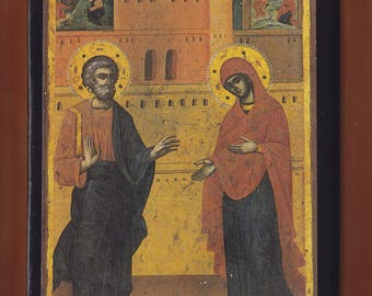 Conception of St. Anne.Christian orthodox icon. FREE SHIPPING