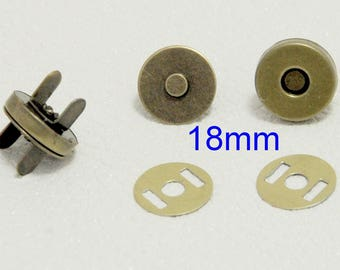 18 X 4mm - 25 sets of magnet magnetic clasp button for carton box or bag