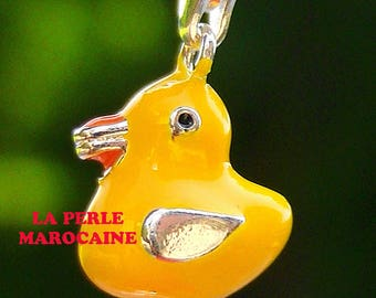 1 PEARL 13 * 23 MM GAMMEE YELLOW DUCK CHARM