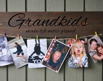 Grandkids photo holder  Grandchildren picture frame  Grandparents picture frame  Grandparent Photo Display The Greatest Blessing