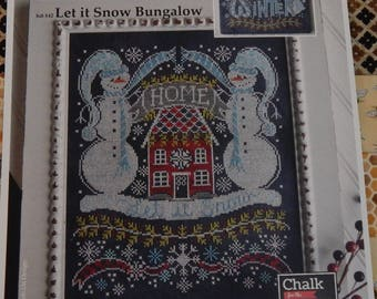 Let It Snow Bungalow Hands On Design Chalk For the Home Chart