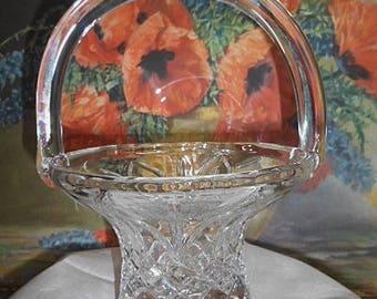 Vintage Bohemia Crystal Glass Basket