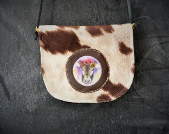 Available! Small purse / handbag / satchel / bag girl / cow