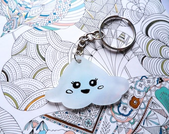 Kawaii Cloud Keychain