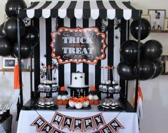 Halloween Trick or Treat Digital Backdrop