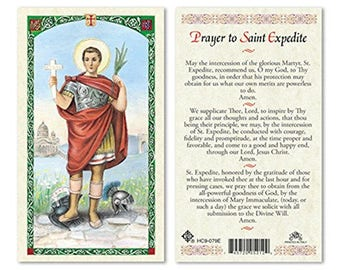 Prayer To ST Expedite Laminated  PRAYER CARDS - One Prayer Card