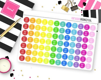 84 Pay Day Dot Planner Stickers for Erin Condren Life Planner, Plum Paper or Mambi Happy Planner || R1206
