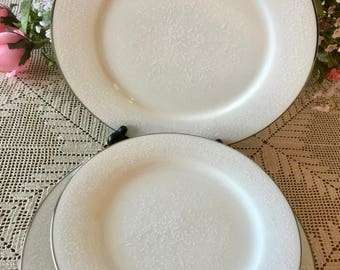 "Noritake ""Affection"" (6) Dinner & (6) Salad Plates ~ Ivory China"