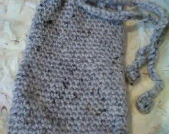 Crocheted tarot bag drawstring