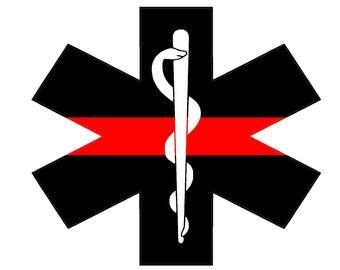 """Fire Deparment Logo (T25) EMS 4"""" Firefighter Vinyl Decal Sticker Car Window"""