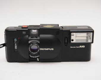 Olympus XA with Flash A16 Iconic Rangefinder Camera