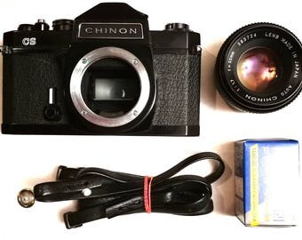 Chinon CS with New Light Seals. Ready-To-Use Vintage 1970s M42 Mount SLR Camera With 55 mm 1,7 Lens