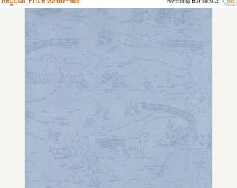 ON SALE Countryside Sky Blue - Ooh La La by Bunny Hill Designs for Moda Fabrics - Toile - 2832 18