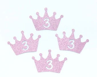 Crown with Number Glitter Die Cutout Handmade Scrapbooking Birthday Party Invitation Collection Decoration