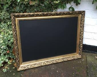 Gold chalkboard old  menu wedding menu chalkboard ornate chalkboard