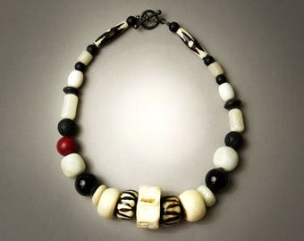 Bone and Bead Necklace