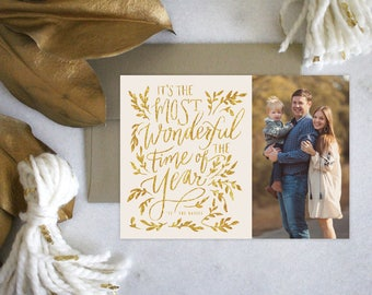 PRINTABLE Holiday Cards | Most Wonderful Time of the Year