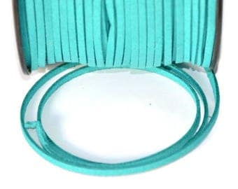 Emerald Green suede 3 mm suede cord 3 m