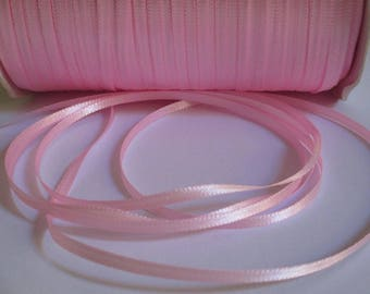10 m 3mm pink satin ribbon