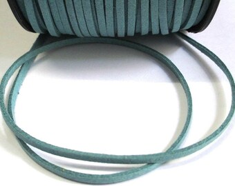 5 m cord Suede Blue 1 3 mm