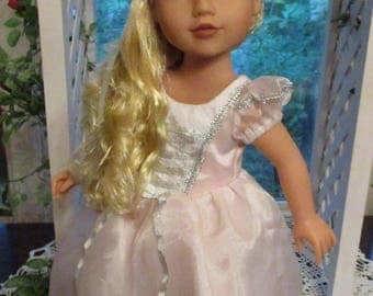 "Pink Princess Gown for 18"" American Girl Doll as Rapunzel or Cinderella"