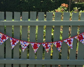 Happy Birthday bunting, Birthday party bunting, classroom display bunting, school decoration, reusable colourful bunting flags, kid's party