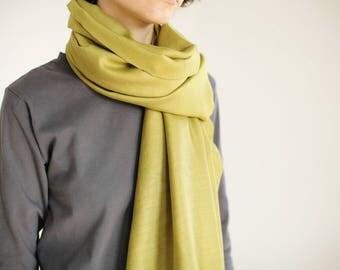 green silk scarf - green scarf for her - green dyed scarf - scarf green - square green scarf - hand dyed silk scarf - spring summer scarf