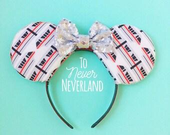 Monorail Mickey Ears, Disneyland Monorail Ears, Disney Inspired Minnie Monorail Ears, Mickey Mouse Monorail Ears, Monorail Mouse Ears